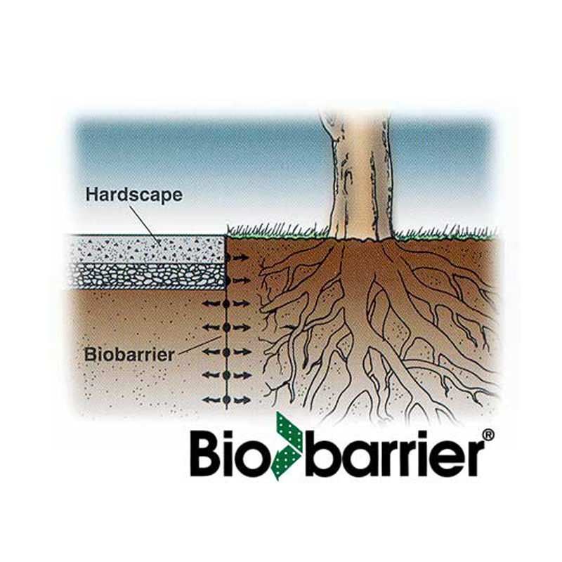 bio barrier tree root barrier prevents foundation damage in homes from tree roots