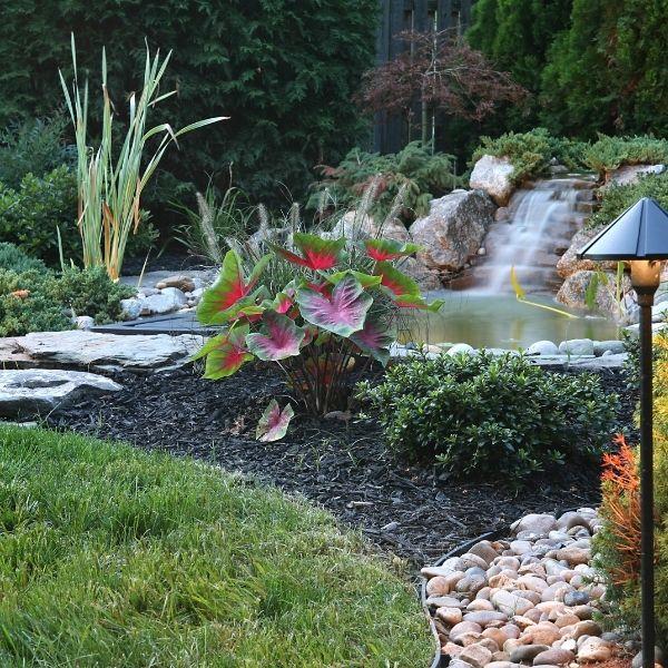 waterfall garden installation